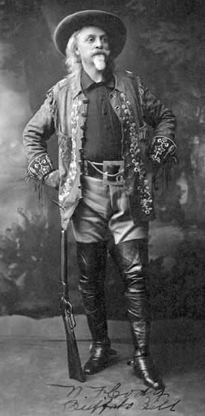 Buffalo Bill Cody in Wild West show dress, 1909