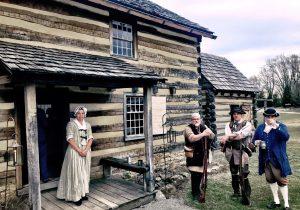Hanna's Town log cabin