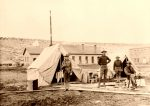 Officers; quarters at Fort Defiance, Arizona, Simeon Schwemberger, 1905.