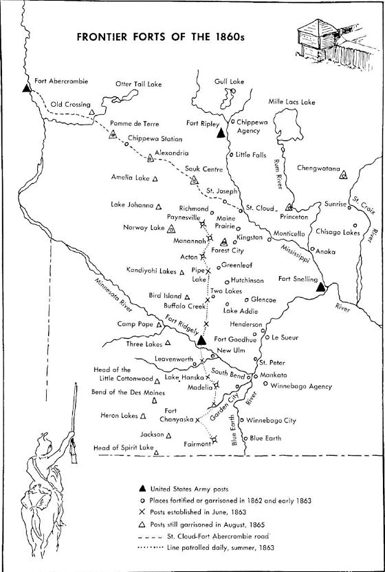 Map of Frontier Forts of the 1860s